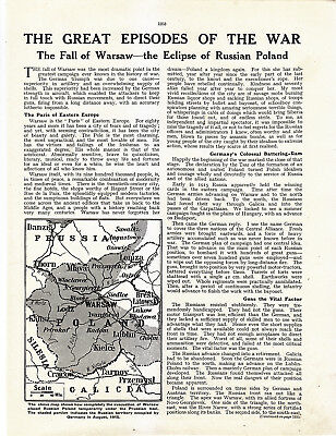 World War 1, Fall of Warsaw, 10 Pages