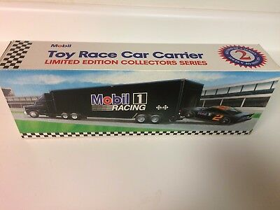 1994 MOBIL TOY RACE CAR CARRIER & CAR 2nd IN A  COLLECTORS SERIES  CHINA
