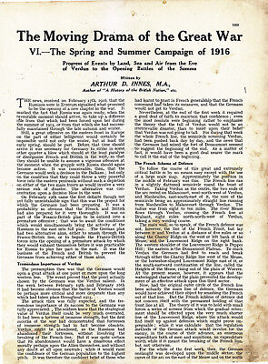 World War 1, Spring and Summer Campaign of 1916, 16 Pages