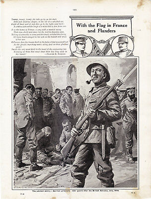 World War 1, With the Flag in France and Flanders, 12 Pages