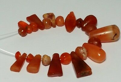 A Beautiful Strand Of Ancient Rare Carnelian / Agate Beads