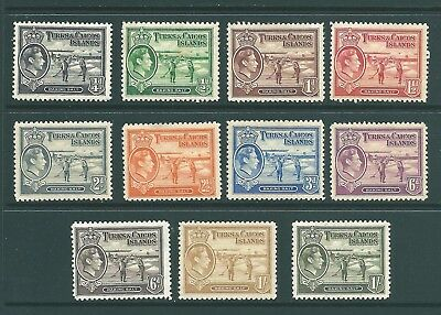 TURKS & CAICOS ISLANDS - 1938 Mint short set