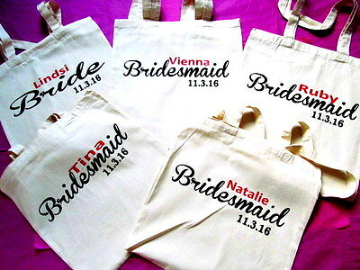 Personalised tote bag bridesmaid/flowergirl , bride  Wedding,bride,Gift