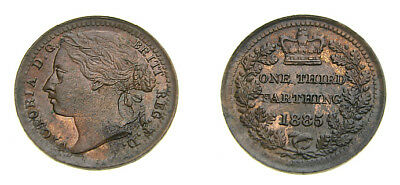 Great Britain 1885 Third Farthing For Use in Malta Mintage Only 288,000 UNC 6048