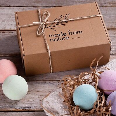 NEW Bath Bomb Gift Set For Women Natural Essential Oils Fizzy Scent Spa