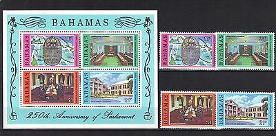 BAHAMAS. 250th ANNIVERSARY OF PARLIMENT  MNH 1979