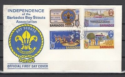 Barbados, Scott cat. 323-326. Boy Scout Association issue on a First day cover.