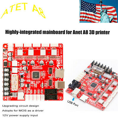 Anet A8 V1.5 Mother Board Mainboard f/ 3D Printer Ramps1.4 2004/12864 LCD RepRap
