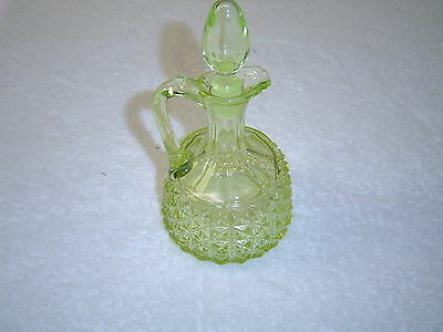 Bryce Bros. Vaseline Finecut Cruet with Stopper