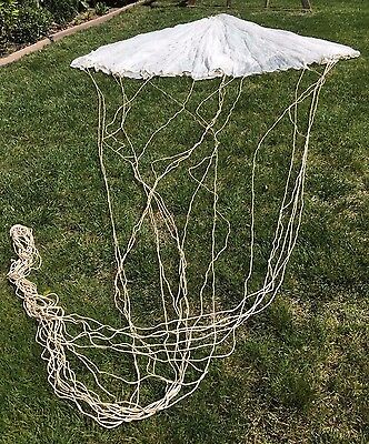 "Vietnam Era 15'  White ""blind Bat"" Mission  Flare Parachute With Lines (1964)"