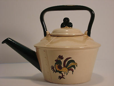 Metlox Poppytrail Rooster Vernon Teapot with Lid
