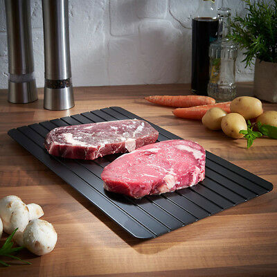 Black Fast Defrosting Tray The Safest Way Defrost Meat Frozen Food Cooking Tool