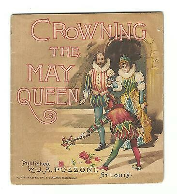 1890 AD Booklet Crowning May Queen Pozzoni St Louis Complexion Powder Headine