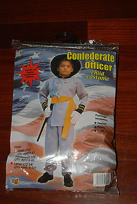 New Boys L Confederate Officer Solider Historical Figure Civil War Costume