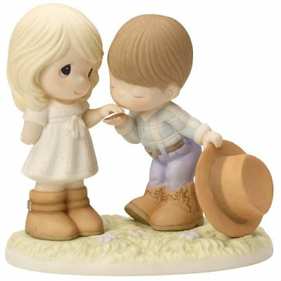 Cowboy Couple Precious Moments Figurine Would You Be My Pardner Country NWOB