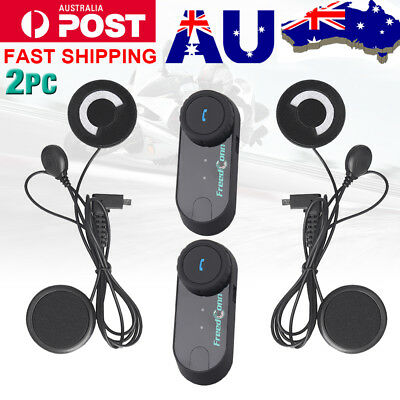 800M Bluetooth Motorcycle Helmet Intercom BT Motorbike Interphone Soft Headset