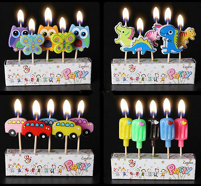 Birthday Cake Cartoon Candles Party Cake Topper Decoration Mini Figurine Candles