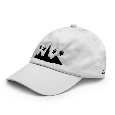 128816d7e504d Chicago Skyline Egyptian Pyramid White Dad Hat Street Goth Egyptian Urban