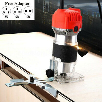 800W 220V 0.25''  Electric Hand Trimmer Wood Laminate Palm Router Joiners Tool
