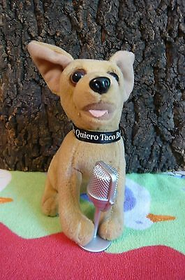 "Adorable Vintage 6"" Taco Bell Chihuahua with Mike-Song is ""Chances Are"""