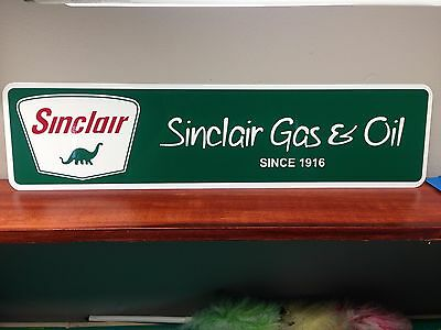 """Sinclair Gas & Oil Vintage Style Metal Sign 6"""" x 24"""""""