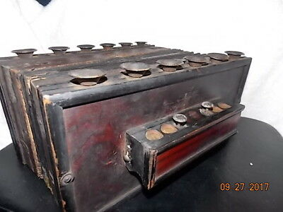 Antique Novitat Accordion from Germany *Parts Restore Display* Works! Needs TLC