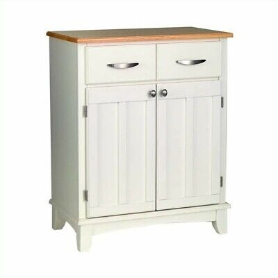 Home Styles Furniture Wood Top Buffet in White Table & Sideboard