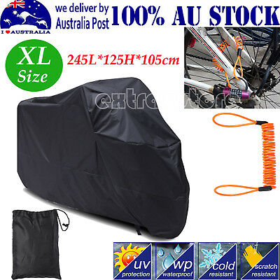 New Waterproof UV Protector Motorbike Rain Dust Bike Motorcycle Cover BLACK XL