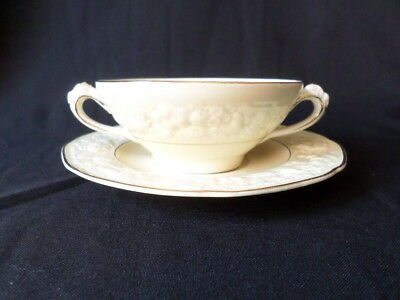 Crown Ducal. Florentine. (Rose Pattern). Soup Bowl & Plate. Made In England.