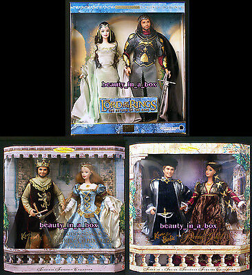 Lord of the Rings Barbie Doll Ken Arwen Camelot Romeo Juliet Shelf Wear Lot 3