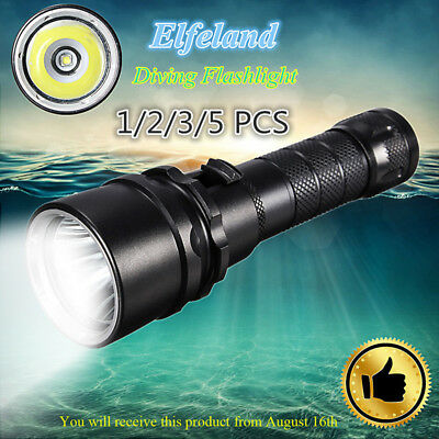 1/2/3/5PCS 85000LM T6 COB LED Diving Flashlight Zoomable 18650 Charger Torch