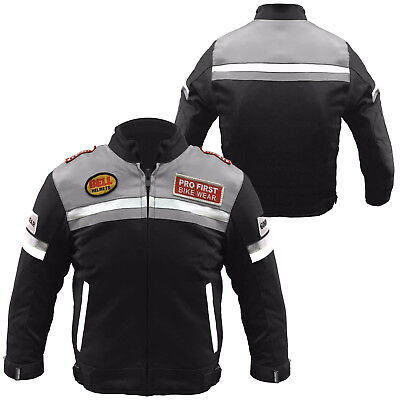 Kids Motorcycle Motorbike Motocross Cordura CE Armoured Jacket Children Clothing