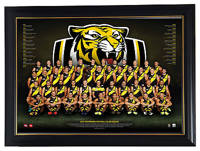 Richmond Tigers 2017 AFL OFFICIAL Team Print Framed Martin Cotchin Riewoldt