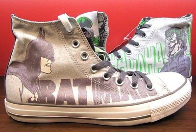 584dac1a774e New Converse All Star DC Comics Batman HAHAHA Joker Chuck Taylor HI Grey  Shoes