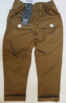 Boys NEXT chino trouser age 3 years NEW ginger tan RRP £11