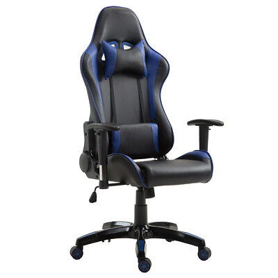 Office Chair Gaming Computer Executive Recliner Desk Seat Lumbar Support Pillow
