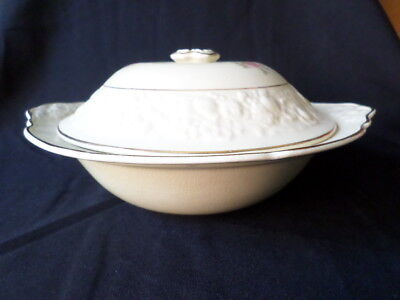 Crown Ducal. Florentine. Tureen Dish & Lid. (Rose Theme). Made In England.