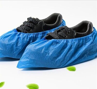 100 pcs Non-Skid Medical Disposable Shoe Covers Blue Overshoes Best Value New