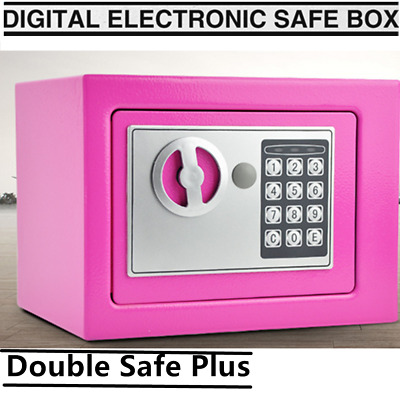 Security Home/office Digital Electronic Safety Box Key Cash Personal Lock Pink