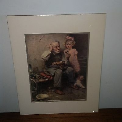 "Norman Rockwell ""The Cobbler Shoemaker"" Matted Print-New Sealed"