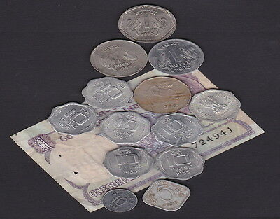 INDIA - BANKNOTE & COINS  Comemoratives & Current values - Collectors/Traveller