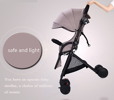 Gray Baby Stroller For Newborn High View Pram Folding Baby Carriage Travel