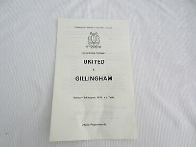 1970-71 FRIENDLY CAMBRIDGE UNITED v GILLINGHAM