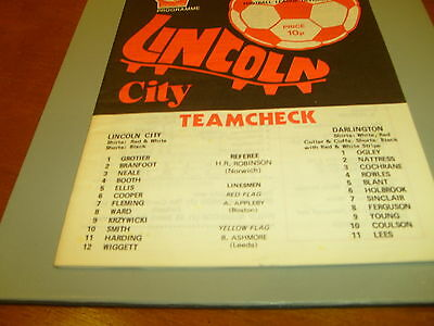 Lincoln v Darlington 75/76