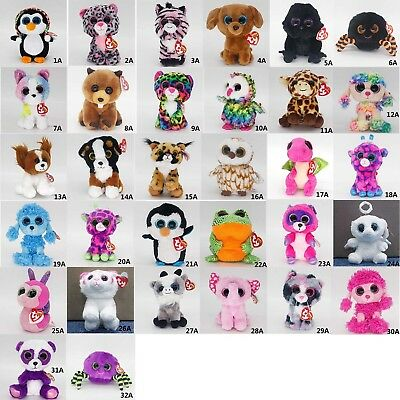 "33 Types Ty Beanie Boos 6"" Stuffed Plush Toy Animals Soft Toys Plush Dolls Gifts"