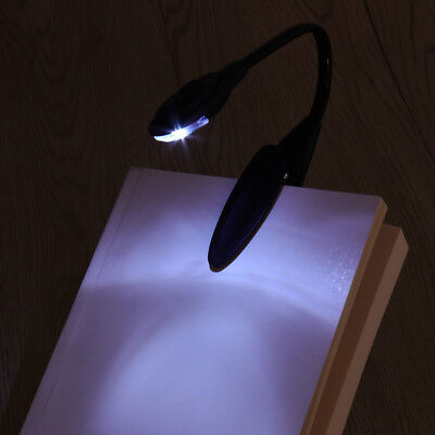 LED Travel Light Clip On Torch Bright Night Book Camping Reading Lamp