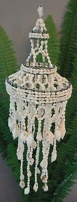Shell Chandelier Small Tiered 15cm Diameter 50cm Drop NEW