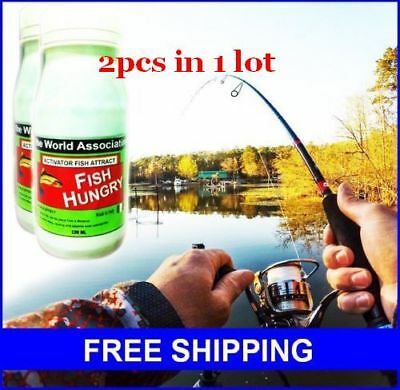 FISH-HUNGRY Bait Additive Activator Fish Attract Fishing 120ml FREE SHIPPING