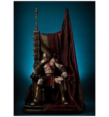 Gaming Heads Statue Kratos on throne God of War