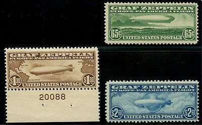 #C13-C15 F-Vf Og Nh Set (#C14 With Single Plate No.) Cv $1,900 Wlm4375